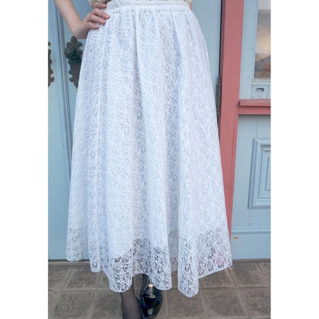 vintage lace skirt