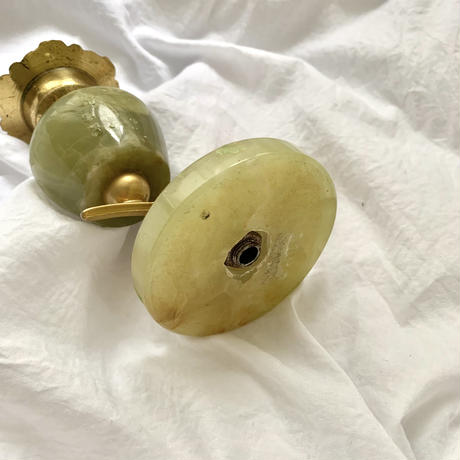Antique natural stone candle holder