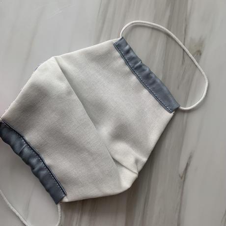 【受注販売❤︎シルクサテンストーン無】handmade whitelace mask