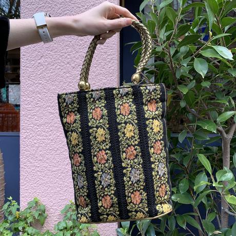 vintage flower embroidery  bag