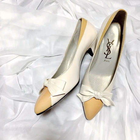 vintage YSL ribbon shoes