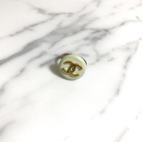 handmade vintage  CHANEL button remake ring