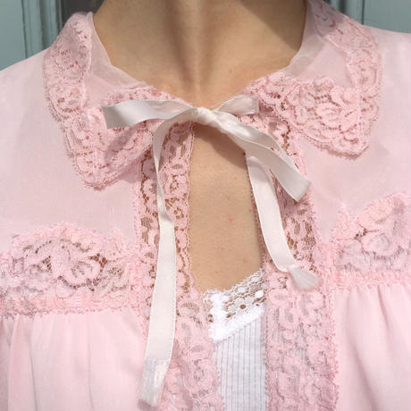 vintage lace flair blouse
