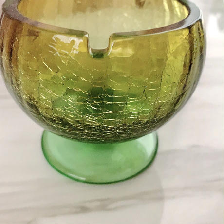 vintage ashtray color glass