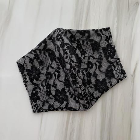 【再入荷受注❤︎ストーン無】 handmade black lace mask