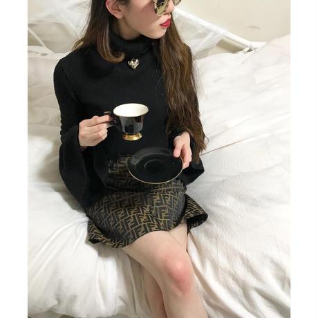 vintage  FENDI zucca pattern skirt