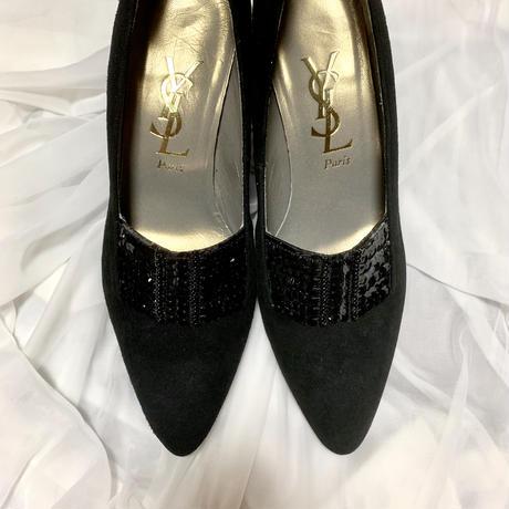 vintage YSL Sequins design shoes