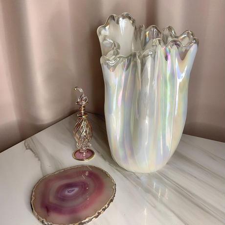 vintage opal  flower vase