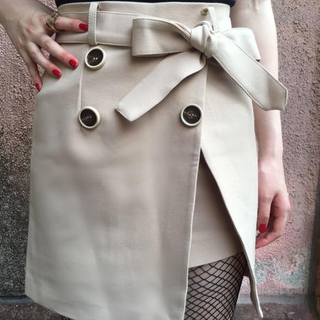 select  trench skirt