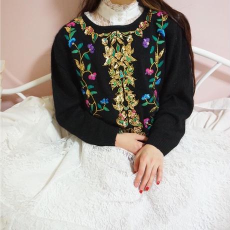 vintage pattern spancorl  knit