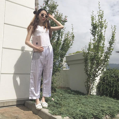 vintage satin stripe pants