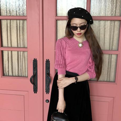 vintage pearl brooch knit tops