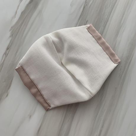 【再入荷受注❤︎シルクサテンストーン付】handmade whitelace mask