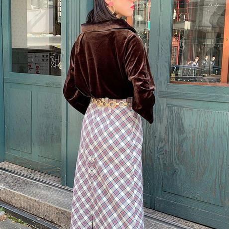 vintage big collar velour tops