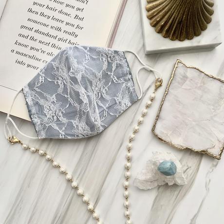Marie Antoinette カラーマスク&マスクチェーンset(blue gray)