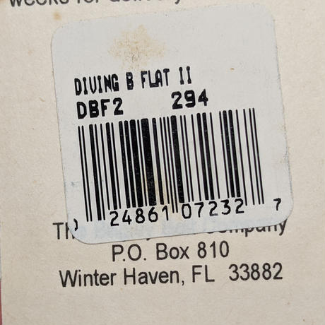 ウインターヘヴン・フロリダ産【バグリー:ダイビングBフラットⅡ】♯294