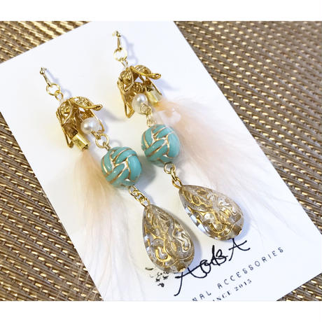 feather drop  pierce/earring