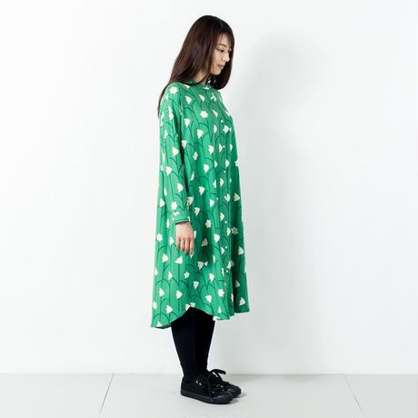 長袖シャツワンピース 水仙