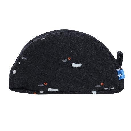 半月ポーチ[ウール] 冬鴨(黒)