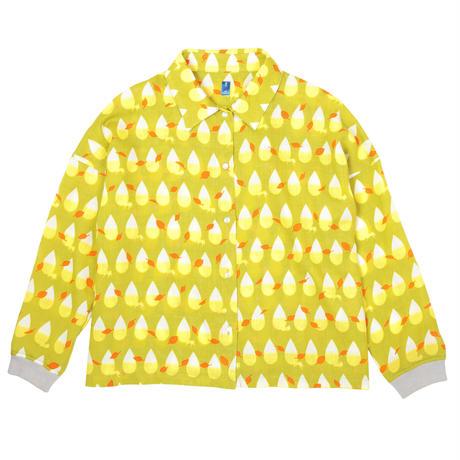 衿付き長袖ブラウス きつねの尻尾(黄)