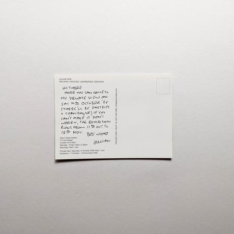 WALKING DANCING UNDRESSING SMOKING, INVITATION CARD / Julian Opie