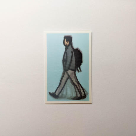 WALKING LONDON 1, LENTICULAR POSTCARD SET/ Julian Opie