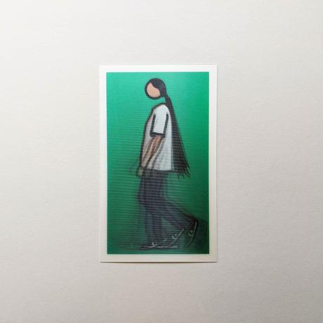 WALKING FIGURES 2, LENTICULAR POSTCARD SET/ Julian Opie