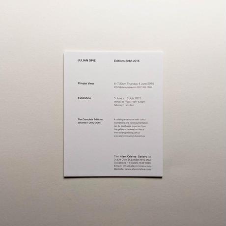 FEMALE TOURIST, SCREEN-PRINTED INVITATION CARD / Julian Opie
