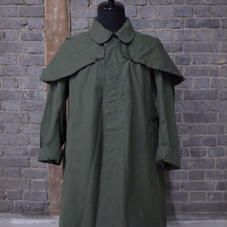 "mid 20th c.  french motorcycle coat ""deadstock"""