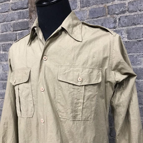 mid 20th c. french military cotton shirts