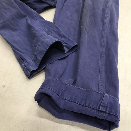 "mid 20th c. french cotton twill work pants ""marin"""