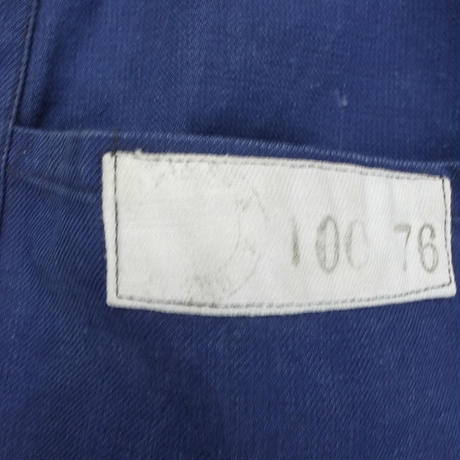 mid 20th c. french cotton twil marine  work jacket
