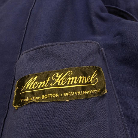 mid 20th c. french moleskin work jacket