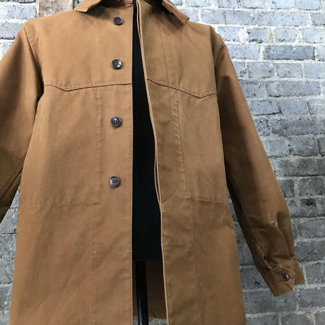 "mid 20th c. french railroader's cotton duck jacket  ""dead stock"""