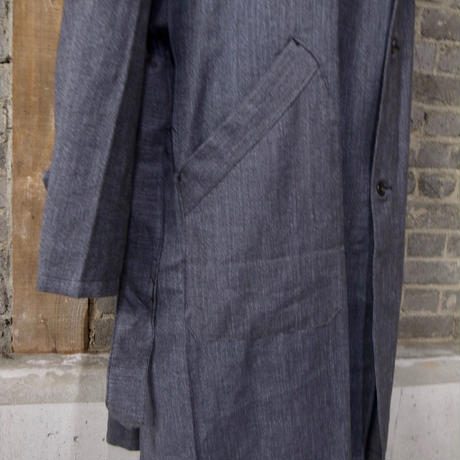 "mid 20th c.  french salt&pepper motorcycle coat ""deadstock"""