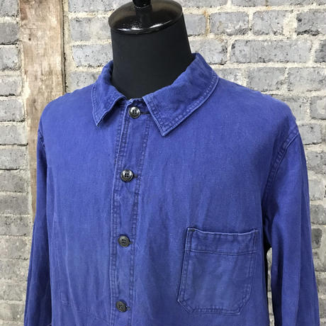 mid 20th c. french cotton twill marine work jacket