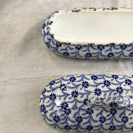 late 19th. c. french antique porcelain oval case
