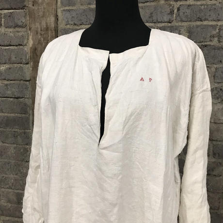 early 20th c. french linen work shirt