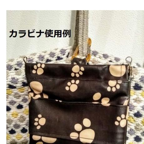 ☆期間限定 カラビナ付き☆マナーポーチ(ポケット付き) 柴&お寿司柄