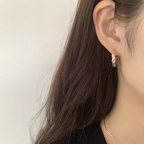 silver925 twist silver pierce