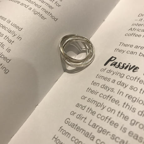 silver925 layer ring