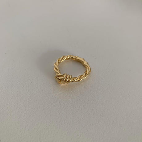 silver925 twist knot ring