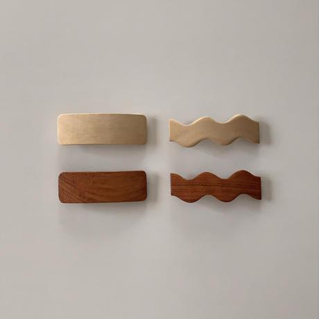 wood barrette