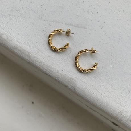 silver925 twist pierce