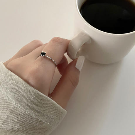 silver925 small gemstone ring