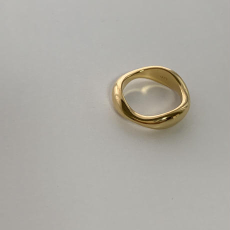 silver925 wave silhouette gold ring