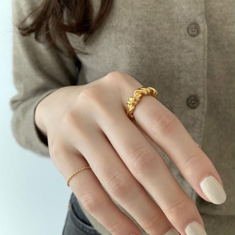 silver925 knit ring