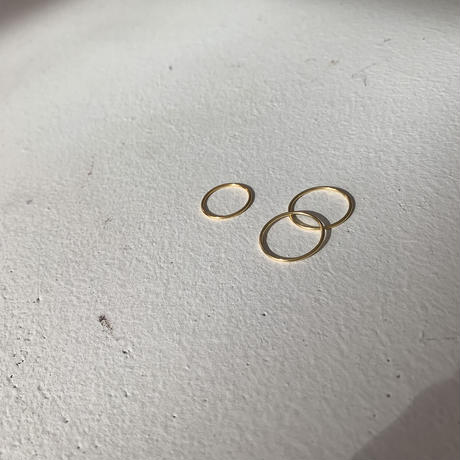 silver925 simple gold ring / 3set(5号/9号/11号)