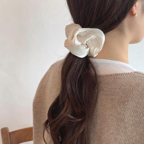 glossy scrunchie