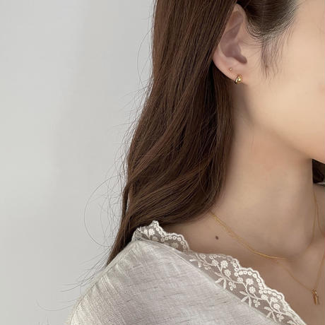 silver925 mini oval pierce